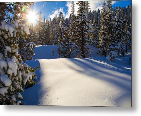 Mt Hood Snowshoeing Metal Print featuring the photograph May The Long Time Sun Shine Upon You by Kunal Mehra