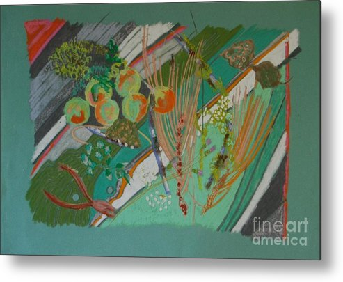 Still Life Metal Print featuring the painting Methow Valley Porch by Judith Van Praag