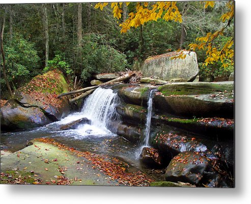 Waterfall Metal Print featuring the photograph Mountain Waterfall by Duane McCullough
