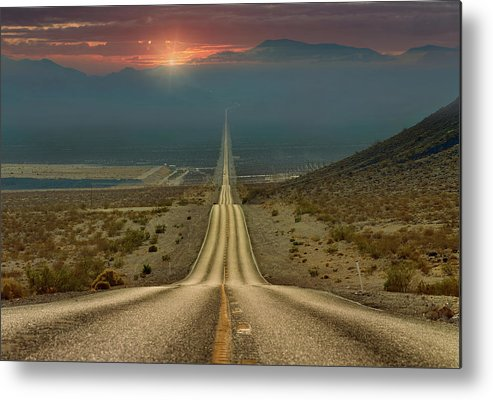 Landscape Metal Print featuring the photograph My Way... by Gennady Shatov