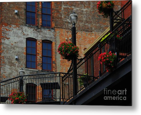 Urban Metal Print featuring the photograph Pearl Street Grill by Kathleen Struckle
