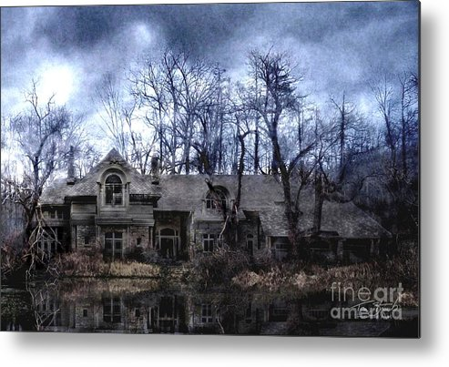 Deserted Metal Print featuring the photograph Plunkett Mansion by Tom Straub