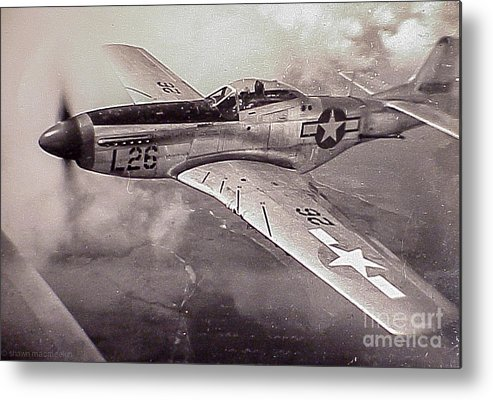 P51 Metal Print featuring the photograph Protecting Home by Shawn MacMeekin