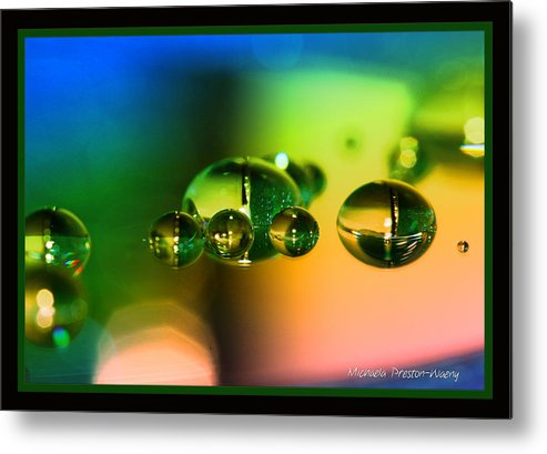 Water Metal Print featuring the photograph Rainbow by Michaela Preston