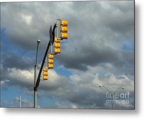 Signal Metal Print featuring the photograph Signal Light by Imagery by Charly