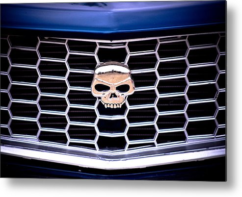 Mazda Rx3 Metal Print featuring the photograph Skull Grill by Phil 'motography' Clark