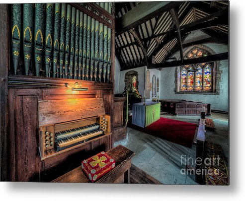 British Metal Print featuring the photograph St Digains Church by Adrian Evans