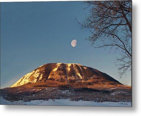 Sun Up Metal Print featuring the photograph Sunshine Super Moon by Daniel Hebard