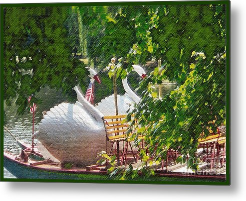 Swan Boats Metal Print featuring the photograph Swan Boats by Jack Gannon