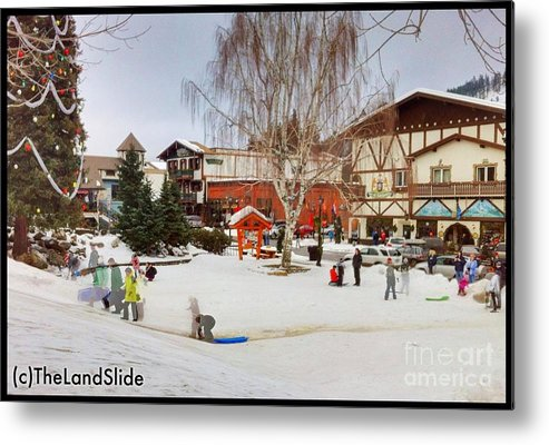 Art Metal Print featuring the photograph The Sledding Hill by Ronnie Glover