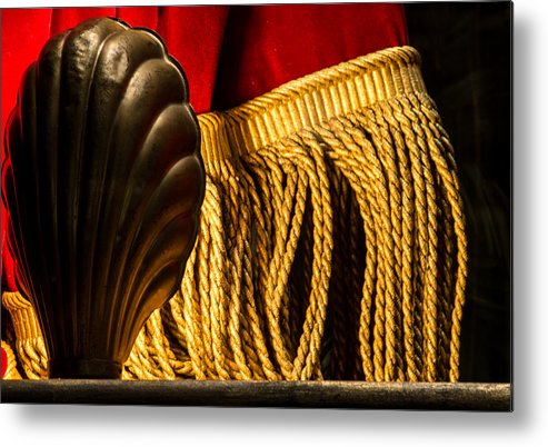 Broadway Metal Print featuring the photograph Theatre Footlight And Curtain by Chay Bewley