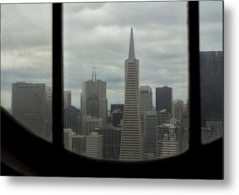 Transamerica Tower Metal Print featuring the photograph Through The Dirty Window by Mark Harrington