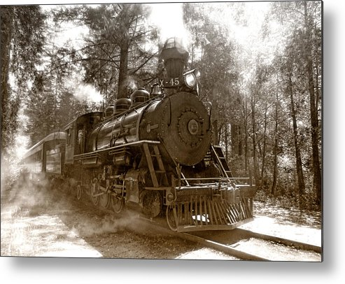 Locomotive Metal Print featuring the photograph Time Traveler by Donna Blackhall