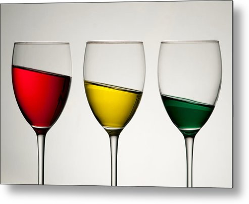 Colour Metal Print featuring the photograph Tipple by AJM Photography