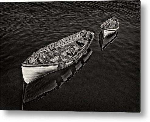 Row Boats Metal Print featuring the photograph Two Row Boats by Fred LeBlanc
