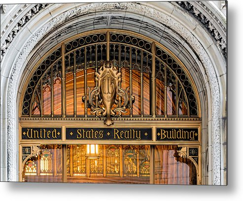 Broadway Metal Print featuring the photograph United States Realty Building Entrance by Kenneth Grant