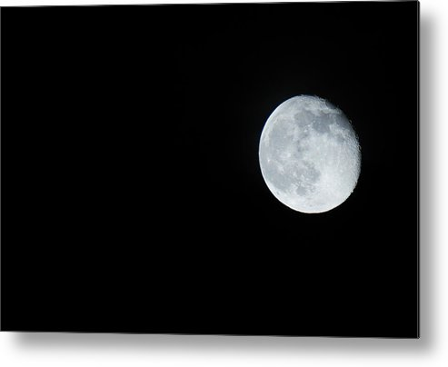 Blurred Metal Print featuring the photograph Waning Moon by Lauren Gage