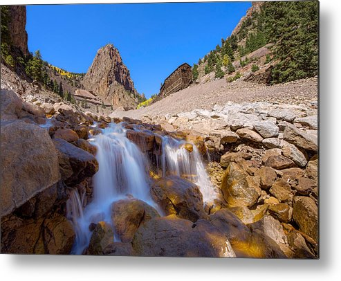 Commodore Metal Print featuring the photograph Waterfall At The Commodore by Nathan Gingles