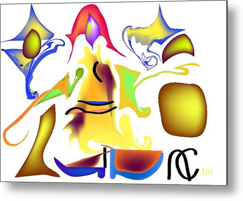 Life's Crazy Metal Print featuring the digital art Whispered Visibility by Andy Cordan