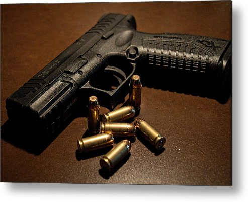 Springfield. Armory Metal Print featuring the photograph Springfield Armory Xdm-40 by John Black