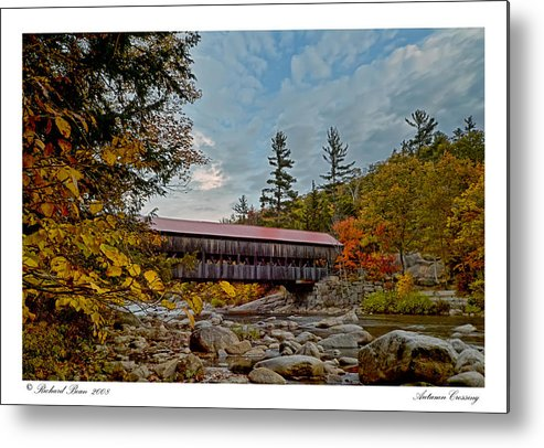 Albany Metal Print featuring the photograph Autumn Crossing by Richard Bean
