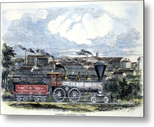 1855 Metal Print featuring the photograph Locomotive Factory, C1855 by Granger