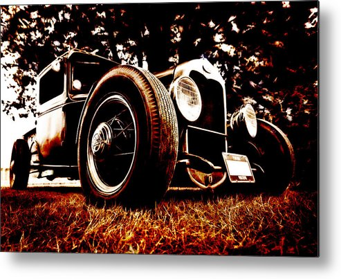 Hot Rod Metal Print featuring the photograph 29 Ford Pickup by Phil 'motography' Clark