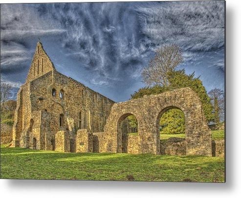 Battle Abbey Metal Print featuring the photograph Battle Abbey Ruins by Chris Thaxter