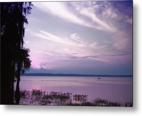 Blue Metal Print featuring the photograph Brilliant Everglades Sunset by Lynnette Johns
