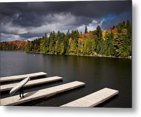 Canoe Metal Print featuring the photograph Canoe Lake by Cale Best