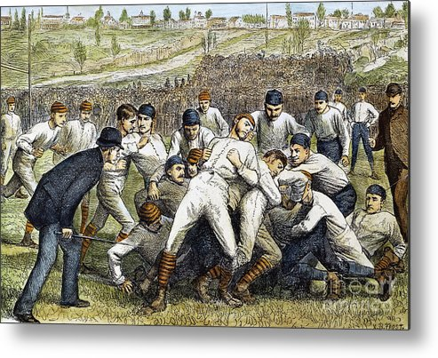 1879 Metal Print featuring the photograph College Football Game, 1879 by Granger