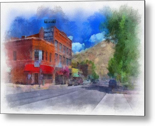 Santa Metal Print featuring the digital art F And S Salida Watercolor by Charles Muhle