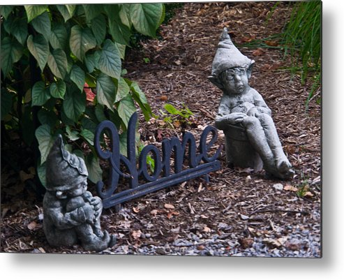 Gnomes Metal Print featuring the photograph Gnomes At Home by Douglas Barnett
