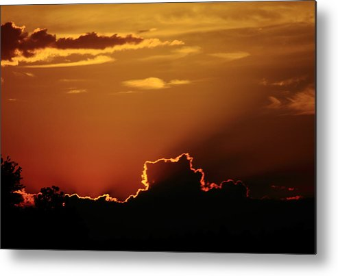Sun Metal Print featuring the photograph Highway Sunrise by Tanya Chesnell