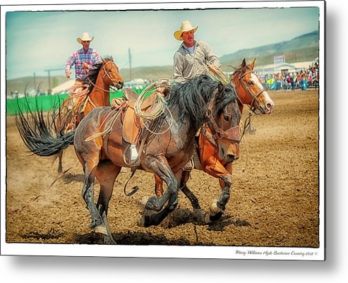 Jordan Metal Print featuring the photograph Jordan Valley Arena Action 2012 by Mary Williams Hyde