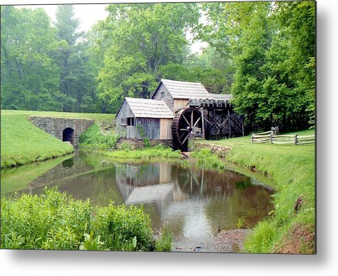 Photography Metal Print featuring the photograph Mabry Mills by Lynnette Johns