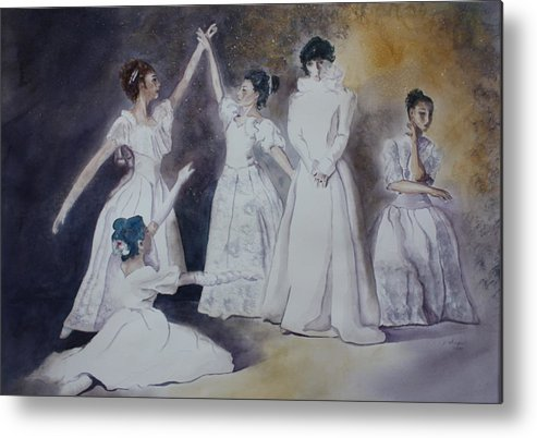 Ballet Dancers Metal Print featuring the painting Magic by Patsy Sharpe