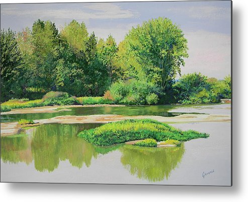 Landscape Metal Print featuring the painting Maumee Reflection by Keith Grindall