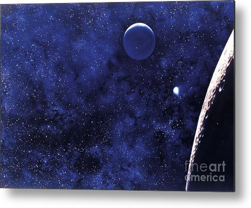Illustration Metal Print featuring the photograph Moon by Science Source