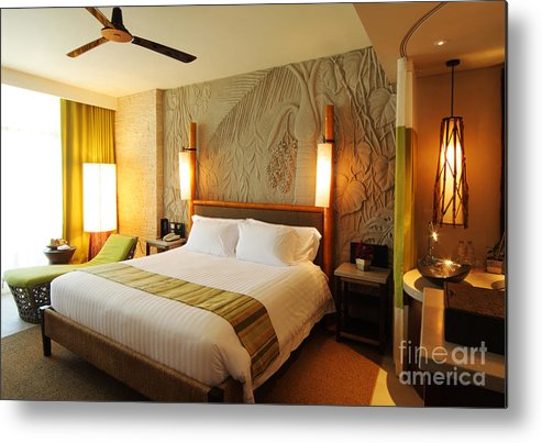 Hotel Metal Print featuring the photograph Nice Hotel-room by Atiketta Sangasaeng