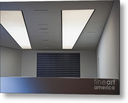 Bleak Metal Print featuring the photograph Office Ceiling by David Buffington
