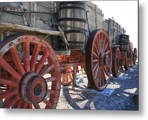 History Metal Print featuring the photograph Old Wagon Train by Horst Duesterwald