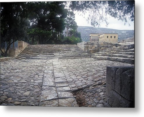 Theatre Knossos Metal Print featuring the photograph Path To Theatre by Andonis Katanos