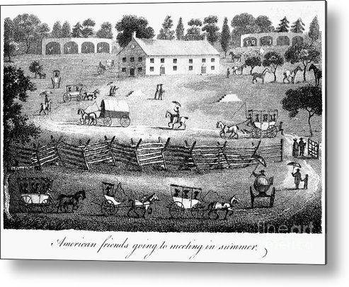 1811 Metal Print featuring the photograph Quaker Meeting, 1811 by Granger