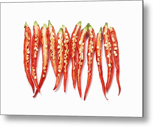 Horizontal Metal Print featuring the photograph Red Chili Peppers by Sot