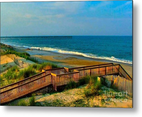 Metal Print featuring the photograph Rodanthe On The Outer Banks by Julie Dant