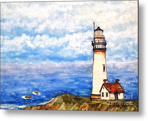 Light House Metal Print featuring the painting Still There by DJ Laughlin