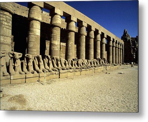 Horizontal Metal Print featuring the photograph Temple Of Karnak, Luxor - Egypt by Hisham Ibrahim