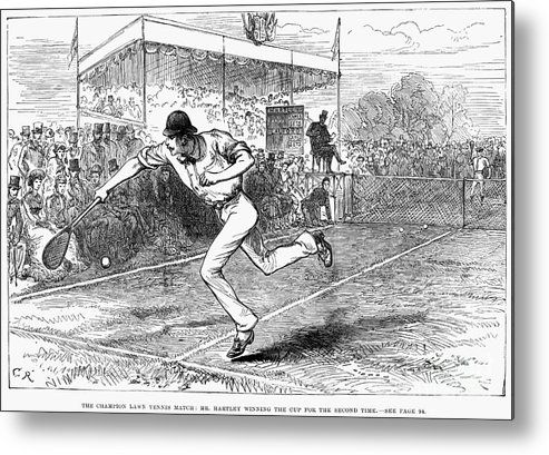 1880 Metal Print featuring the photograph Tennis: Wimbledon, 1880 by Granger
