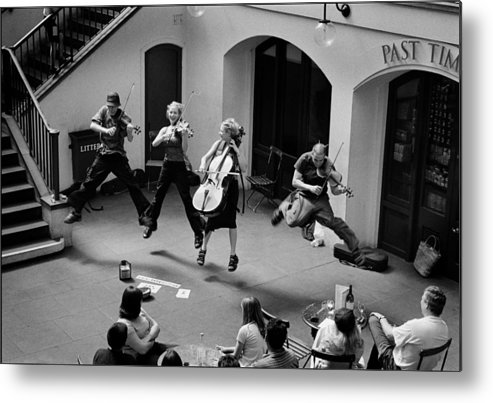 Music Covent Garden Metal Print featuring the photograph The Flying Quartet Covent Garden by Aldo Cervato